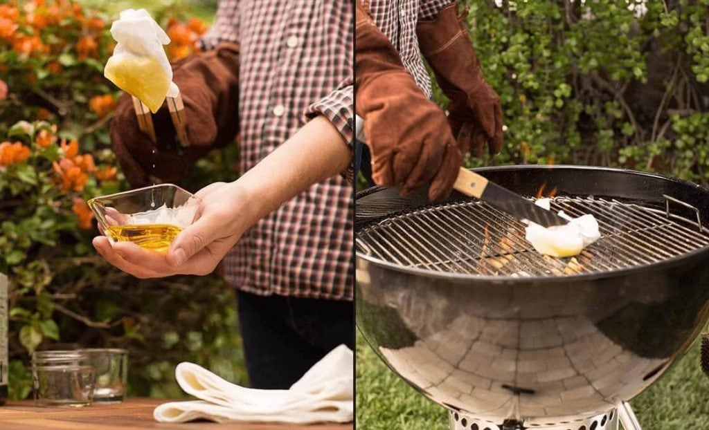 oil and preheat grills