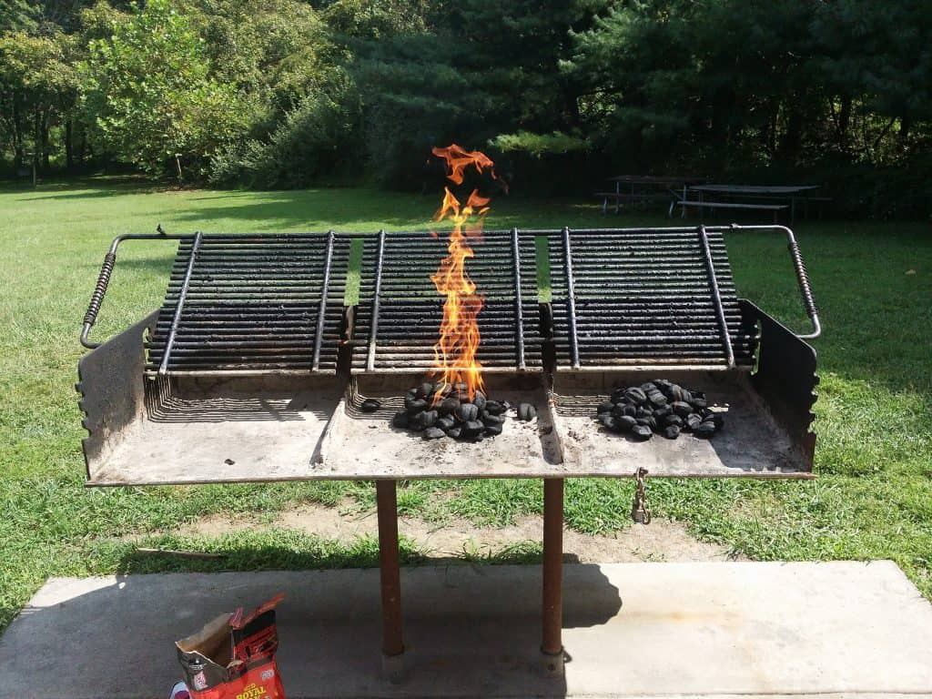 Place Coals In The Center Of The Barrel Grill